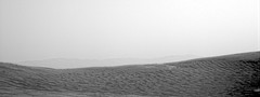 Overlooking the Hazy Crater Rim (sjrankin) Tags: 4april2019 edited nasa grayscale nrb606980405edrs0750936ncam00593m msl curiosity mars haze sky hills mountains ridge