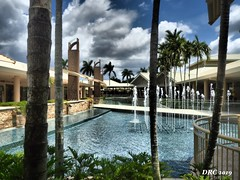 Water Side Shops (DRC - THANKS for 3.4 Million Views) Tags: watersideshops shopping mall fountain water pools blue sky clouds palms naples florida architecture highend expensive classy olympus omdem5ii white green