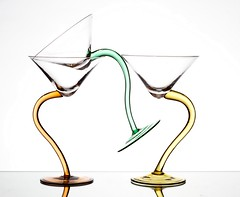 Support (Karen_Chappell) Tags: glass white green pastel yellow three 3 product stilllife curve stemware glassware shapes balance