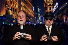 Father Phillip and his brother Auguste Mugavero enjoyed street photography on Nanjing Road in Shanghai (Studio d'Xavier) Tags: werehere siblingsonly fatherphillip priest augustemugavero gangster photographers shanghai china brothers 465482