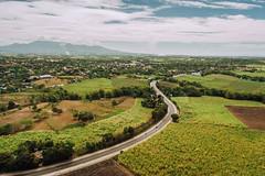 Aerial shot of Sagay national highway