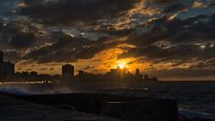 Cuba Havana Malencon Sunset -3 (jdl1963) Tags: cuba havana travel nikon d810 malencon sunset twilight ocean sea waves sunlight