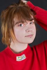 Michalina (piotr_szymanek) Tags: michanlina woman young face portrait studio eyesoncamera redhead piercing nosepiercing eyebrowpiercing lipspiercing 1k