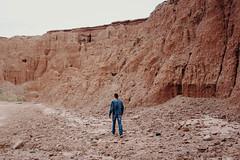 Red Knolls (Kymber Derrick) Tags: girl boy outside red knolls thatcher arizona kadin hiking adventure sky hot rock guy woman pinky fun denim