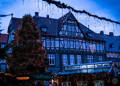 Goslar Christmas Market (dlerps) Tags: amount centralgermany de daniellerps eu europa europe fullframe germany harz lerps lowersaxony mitteldeutschland niedersachsen norddeutschland northerngermany sony sonyalpha sonyalpha99ii sonyalphaa99ii lerpsphotography goslar christmas christmasmarket tree christmastree lights evening civiltwilight twilight dusk marketsquare weihnachtsmarkt marktplatz bluehour blue carlzeiss planart1450 carlzeissplanar50mmf14ssm