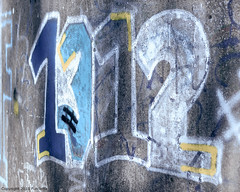 cross sum 7 (Furcletta) Tags: daylight handheld nikond800 outdoor places europe switzerland zumikon che art colours blue grey yellow white graphity lense 135mm20ddc material concrete paint mural numbers urban outlines 1 2 3 1312 underpass zh