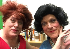 2018 YIP Day 301 and Day 2491: Day 301: with Tom/Valentina (knoopie) Tags: 2018 october iphone picturemail friend theater casavalentina ericksontheatre tom valentina wigs doug knoop knoopie me selfportrait 365days 365daysyear7 year7 365more day2491 day301 2018yip project365 365project 2018365 yiipday301