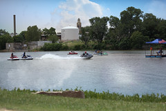 Llano Jet Ski Racing 6 (Largeguy1) Tags: landscape water canon 5d mark iii blue sky clouds