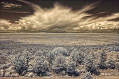 Plateau (danielgweidner) Tags: colorado desert eos50d ir infrared landscape mountains vacation plateau crestone clouds weather scrub