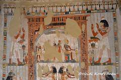 Adoring a stela (konde) Tags: tt69 menna sheikhabdelqurna tomb 18thdynasty newkingdom luxor thebes tombpainting hautamaalaus art ancientegypt treasure mythology goddess hathor imentet rahorakty osiris anubis deities divinity stele stela hieroglyphs