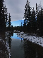Chinook Arch (Bhlubarber) Tags: calgary griffithwoods elbowriver chinook arch winter sky weather blue iphone alberta