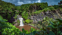 Seven Pools of Ohe'o (`James Wheeler) Tags: unitedstates vacation hawaii travel maui water river nature landscape waterfall tree rainforest jungle plant vegetation green outdoors flower leaf garden wilderness stream forest vase field waterresources outdoor naturallandscape grass sitting tropical bodyofwater small noperson naturereserve land wood watercourse table tropicalandsubtropicalconiferousforests flora wooden bush mountain large scenic white scenery beautiful naturalenvironment