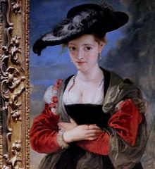 """IMG_4204AA Peter Paul Rubens. 1577-1640. Anvers. Portrait of Susanna Lunden (?) """"Le chapeau de paille"""". Portrait of Susanna Lunden (?) """"The straw hat"""". vers 1625.  Londres National Gallery. (jean louis mazieres) Tags: peintres peintures painting musée museum museo lafemmedanslapeintureeuropéenne thewomanineuropeanpainting"""