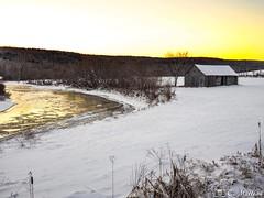 190102-50 Grange (clamato39) Tags: grange barn rural hiver winter snow neige sunset coucherdesoleil ciel sky beauce provincedequébec québec canada