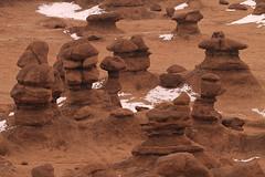 Snow Traces (arbyreed) Tags: arbyreed landscape redrock goblins hoodoos snow winter cold fallingsnow goblinvalley emerycountyutah wildhorsebutte
