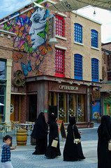 City walk, Dubai (Bokeh & Travel) Tags: lamer city dubai united arab emirates middleeast architecture colour colourful streetlife streetart beach cafes people juxtaposition