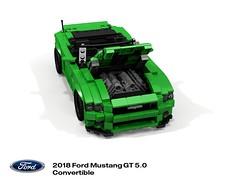 Ford Mustang 2018 5.0 GT Convertible (S550MCA) (lego911) Tags: ford mustang 2018 s550 s550mca gt v8 convertible softtop motor company auto car moc model miniland lego lego911 ldd render cad povray usa america american afol