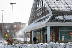 Snow Blown (caribb) Tags: montreal montréal quebec québec canada urban city 2019 street streets eastend mercierhochelaga mercier saq windy snow blowingsnow winter store