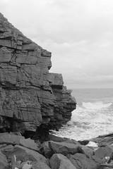Cliffs,Collieston_Mar 19_530 (Alan Longmuir.) Tags: monochrome grampian aberdeenshire collieston cliffs