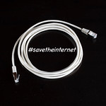 #savetheinternet text with white internet cable on black background thumbnail