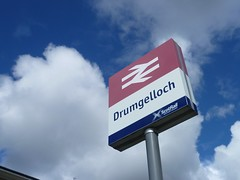 Drumgelloch, North Lanarkshire (calderwoodroy) Tags: formerbrlogo nationalraillogo drumgellochstation sign stationsign station railwaystation drumgelloch airdrie monklands northlanarkshire lanarkshire scotland