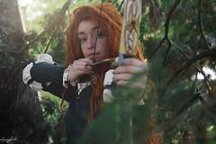 Merida (aliasmarteena) Tags: disney princess castle fairytail brave curly dress ballgown