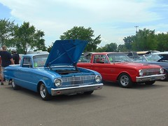 Twofer (novice09) Tags: truckthursday truck falcon ranchero backtothefifties carshow pair