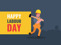 International Labour Day Flat Vector Background (graphicstall) Tags: business construction person white people worker isolated sign work safety helmet character businessman engineer human job labour day happy workers may illustration internet design card symbol holiday flat banner celebration creative international message modern style mayday rights union background revolution socialism strong party employers man freedom yellow