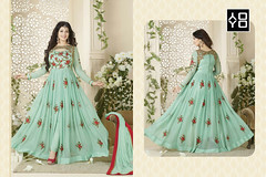 Sea Green Front-Slit #AnarkaliSuit #YOYOFashion Online Shopping. (yoyo_fashion) Tags: fashion style wedding look shopping designer outfitoftheday lookbook fashiongram stylist shoppingonline indianwedding womenfashion ethnic indianfashion offer indianwear ethnicwear punjabiwedding bridalwear designerwear