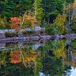 Lake Placid New York  ~ Ausable River at Franklin Road Bridge @ Sunset thumbnail