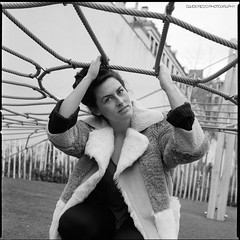 Morgane (Davide Rizzo) Tags: good show ilford delta 3200 xtol 11 portrait playground paris hasselblad fur easygoing net spider