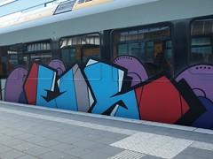 EIS (mkorsakov) Tags: münster hbf bahnhof mainstation zug train rb89 graffiti piece bunt colored oldschool eis