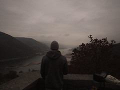 View from Castle Stahleck (ClementainPhoto) Tags: people friends clouds cloudy view castle autumn herbst grey grau olympus