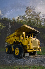 My dump (Robin Decay) Tags: dump truck yellow big ardennen belgium work what you gon do with all that junk inside your trunk