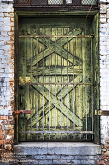 Let My Love Open The Door (DetroitDerek Photography ( ALL RIGHTS RESERVED )) Tags: allrightsreserved 313 detroit motown downtown rivertown green door greendoor faded weathered urban winter cold fenruary 2019 canon 5d mkii digital march detroitderek midwest usa america entrance exit wood locked motorcity hdr 3exp letmyloveopenthedoor petetownshend