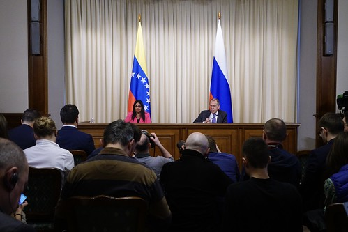 С.Лавров и Д.Родригес   Sergey Lavrov and Delcy Rodriguez
