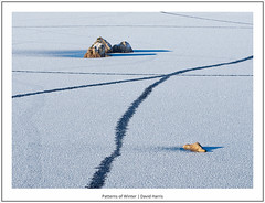 Patterns of Winter (David Harris ARPS) Tags: intimatelandscape lochannahachlaise rannochmoor photostyles rocks colour