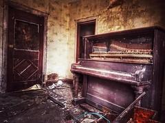 exit stage left.... (BillsExplorations) Tags: piano abandonedhouse abandoned abandonedillinois exitstageleft door forgotten old vintage decay ruraldecay