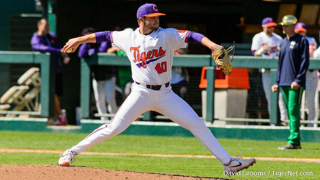 Clemson Photos: Owen  Griffith, 2019, Baseball, notredame