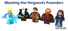 Meeting the Hogwarts Founders (WhiteFang (Eurobricks)) Tags: lego minifigures cmfs collectable walt disney mickey characters licensed design personality animated animation movies blockbuster cartoon fiction story fairytale series magic magical theme park medieval stories soundtrack vault franchise review ancient god mythical town city costume space