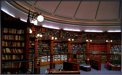 The Picton Reading Room (* RICHARD M (Over 8.5 MILLION VIEWS)) Tags: interiors pictonreadingroom liverpoolcentrallibrary library libraries publiclibrary publiclibraries books bookcases lamps lights globes liverpool merseyside capitalofculture culture learning heritage england greatbritain britain unitedkingdom uk britishisles wood