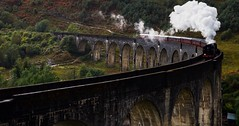 Full steam ahead (Phil-Gregory) Tags: nikon tokina tokina1120mmatx wideangle d7200 ultrawide zoom steamtrain viaduct glenfinnan harrypotter hogwartsexpress jacobite clouds scenicsnotjustlandscapes scotland