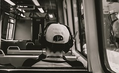 People you see on the train. (diannerobbins1) Tags: blackandwhitephotography g7xii canong7xii streetstorytelling streetphotography