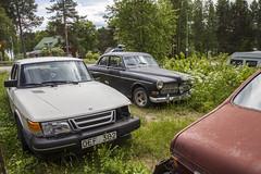 Abandoned cars (Burminordlicht) Tags: cars scrapcars junk scrapyard scrap schrott abandoned autofriedhof volvoamazon saab rusty rust rustyvehicles old oldcars