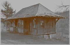 The Railroad Depot. Fenelton, PA (bobchesarek) Tags: railroad rural abandoned old railroadstation railroaddepot trains trainstation brp buffalorochesterpittsburgh deserted forgotten neglected gimp2photoediting
