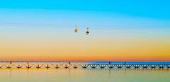 Lisboa | Lisbon | Lisbonne | Lisbona | Lissabon | Лиссабон (António José Rocha) Tags: portugal lisboa parquedasnações rio tejo riotejo passeiodastágides ponte água pontevascodagama teleférico reflexos estrutura
