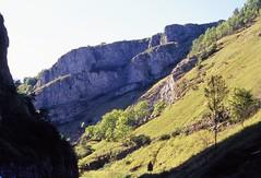 Cheddar Gorge (cycle.nut66) Tags: cheddar gorge landscape fields rocks cliff tree sky view telephoto touring cycle ricoh mirai bridge camera 1988 ektar 100 kodak film scan analogue epson 4490 scanner