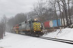Carbon Center (Dan A. Davis) Tags: buffalopittsburgh bprr bp geneseewyoming gw sd50 sd402 sd40t2 freight freighttrain train railroad locomotive pennsylvania pa carboncenter adrian cowansville