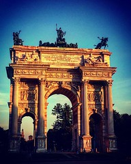 Arco della Pace at Sunset Milan, Italia We were walking through Parco Sempione on our way to dinner and caught the Arch of Piece in the late afternoon light. This is actually the back side of the arch. I would have had to be there in the morning to get li (dewelch) Tags: ifttt instagram arco della pace sunset milan italia we were walking through parco sempione our way dinner caught arch piece late afternoon light this is actually back side i would have had be there morning get front that said think photos illuminated later evening milano architecture italy monument napoleon travel art