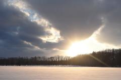 DSC_2620 (Sannoh Tameiki) Tags: snowfield sunset winter